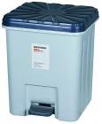 得力(deli) 956 带盖子方形清洁桶 垃圾桶 塑料垃圾桶 纸篓 26.5*25 cm