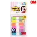 3M Post-it 683-6CF 9.4mm*44mm 20片*6色 荧光色 挂装指示标签 抽取式标签系列
