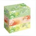 清风 抽纸巾 B335AAD 130抽 2层 盒装抽纸 抽取式面巾纸(3盒装)