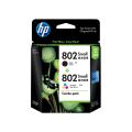 HP Inkjet  802s 黑色+彩色 打印机墨盒和喷墨打印耗材 惠普 802 号黑色/彩色原装墨盒(每包 2 个) (CR312AA)