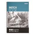 得力deli 7698  A4 40页 素描本纯木浆 线圈写生本 素描专业用纸