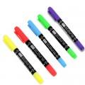 TOYO东洋 荧光笔 TH322 小双头荧光笔(蓝色 红色 黄色 绿色 紫色 粉红 橙色)