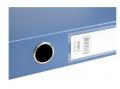 deli得力 档案盒 文件盒 5623 高级塑料资料盒 A4蓝黑5cm办公用品2寸