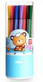 得力水彩笔7067彩色可洗绘画笔 环保安全小学生儿童礼品 24色/筒