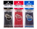 得力S775 笔芯 中性笔芯 水笔芯 替芯黑色/红色/蓝色0.5mm通用笔芯12支装