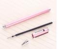 得力S83金属笔杆中性笔签字笔0.5水笔学生水笔简约走珠笔文具用品