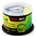 得力(DELI)新品3724可记录式DVD光盘 采用A级原料 纯银反射层