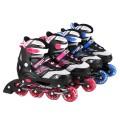 deli得力轮滑鞋 儿童可调节溜冰鞋 F3103 四轮直排轮滑 闪光碳钢铝合金 男女中号大号34-37码