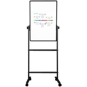 deli得力白板 60*90cm竖式白板 双面白板可移动办公支架式黑板教学写字板7881