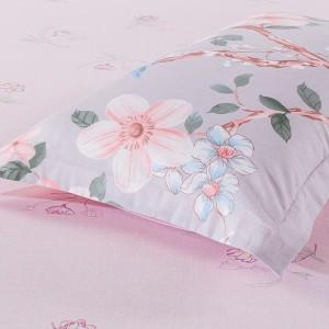 太湖雪床上用品四件套 200*230全棉 1个被套1个床单2个枕套-爱的圣殿