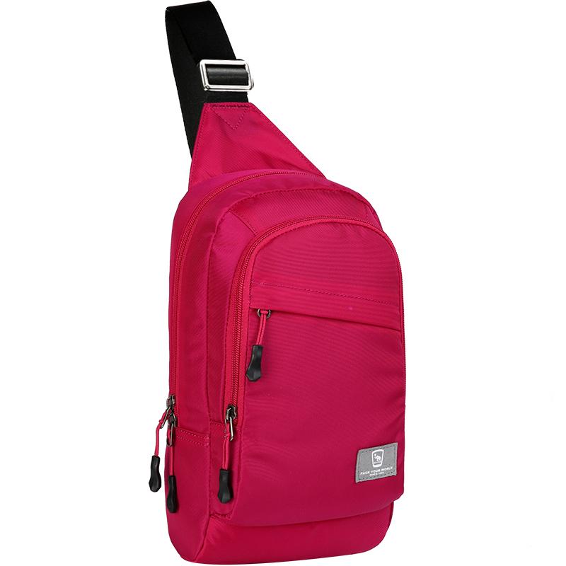 爱华仕OIWAS-OCK5530胸包 前背包 黑色/蓝色/玫红色 三款颜色随机发货